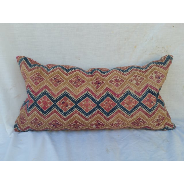 Silk Embroidered Hill Tribe Pillow - Image 2 of 5
