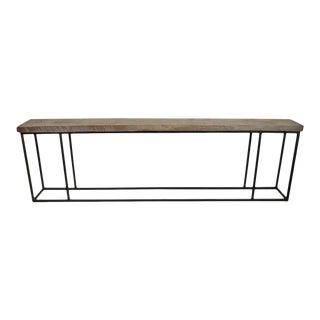 Elm Plank Long Hall Table For Sale