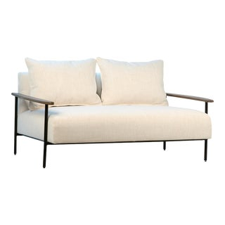 Brady White Linen Sofa For Sale