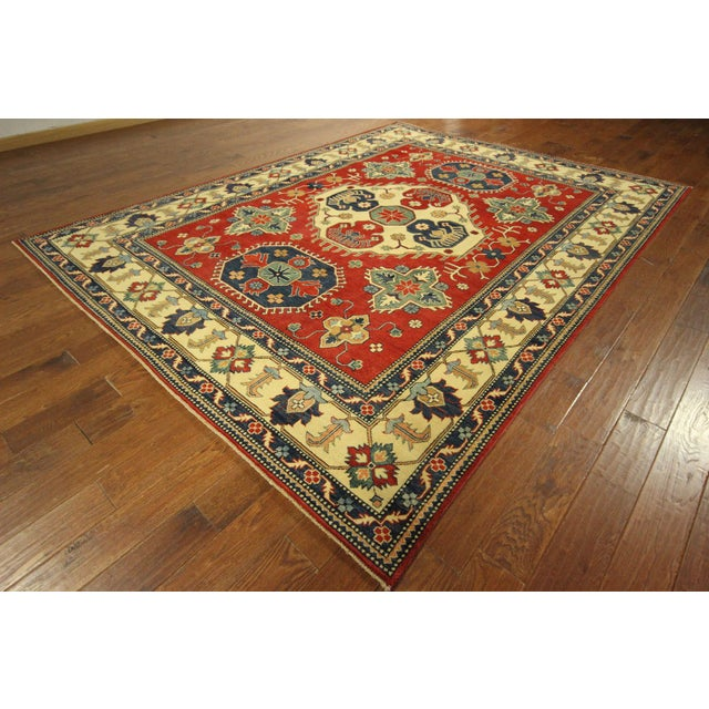 Traditional Super Kazak Rug Red- 8' x 11' - Image 4 of 11
