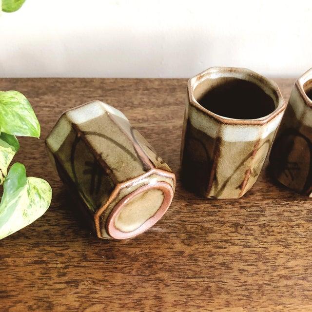 1960s Vintage Asian Ceramic Sake Cups - Set of 4 For Sale - Image 5 of 7