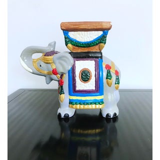 Vintage 1960's Hand-Painted Ceramic Elephant Planter Preview