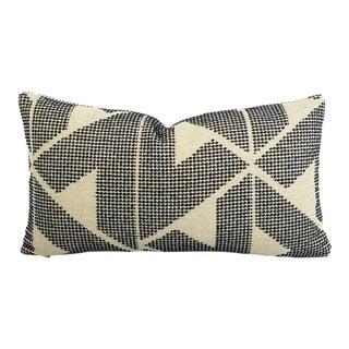 "F. Schumacher Sierra in Indigo Lumbar Pillow Cover - 11"" X 20"" For Sale"