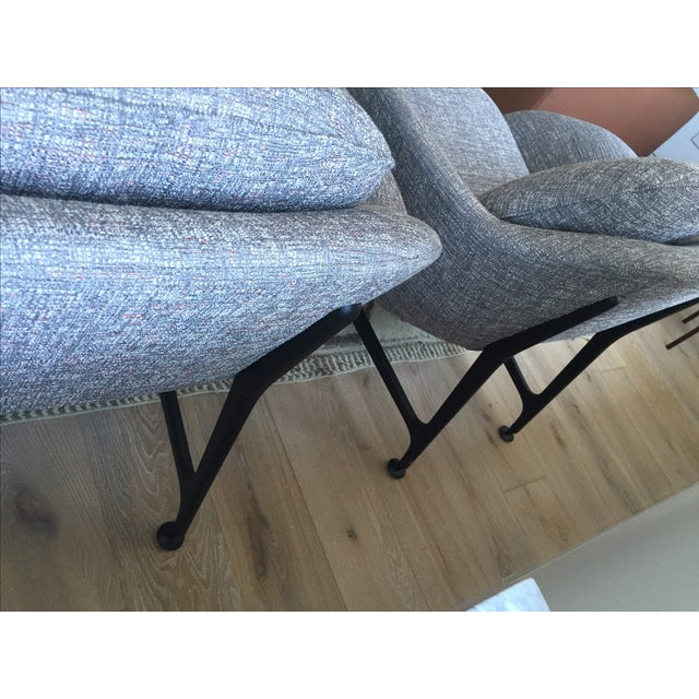 Cassina 399 VICO Gray Armchairs - A Pair - Image 6 of 6