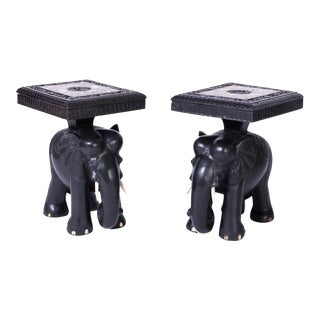 Elephant End Tables - A Pair For Sale