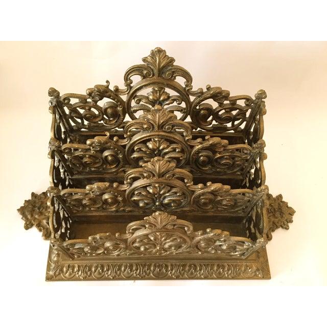 Victorian Brass Letter Holder - Image 4 of 7