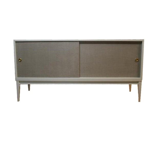 Bishop Linen Door Console For Sale In New York - Image 6 of 6