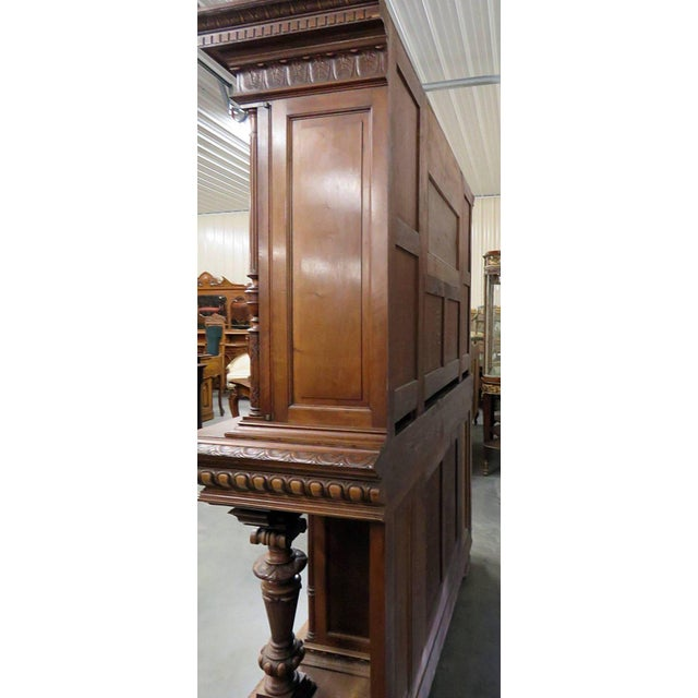 Wood Renaissance Style Carved Cupboard For Sale - Image 7 of 8
