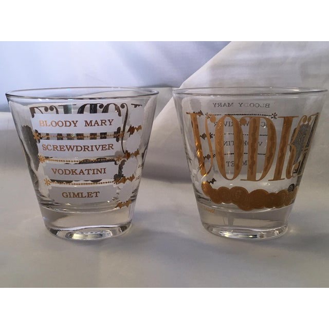 Vintage Jackson Lowell Vodka Glassware Signed - Set of 4 For Sale - Image 4 of 11