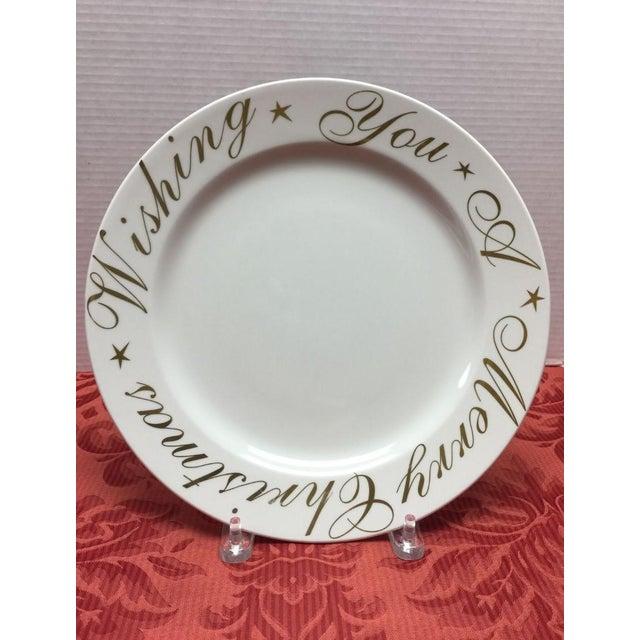 Christmas Plate Set.Wishing You A Merry Christmas Plates Set Of 12