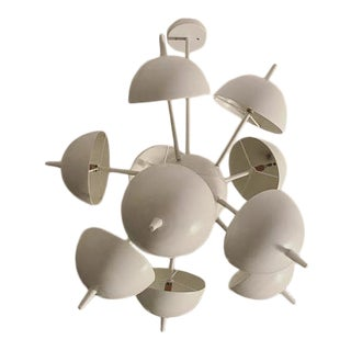 Space Age White Half-Circle Chandelier by Thomas Hayes Studio For Sale