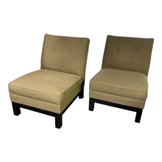 Armless Chairs by Mitchell Gold - a Pair For Sale
