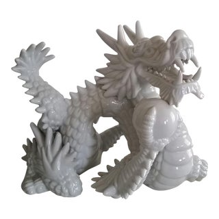 1970s Vintage Fitz & Floyd Year of the Dragon Porcelain Figurine For Sale