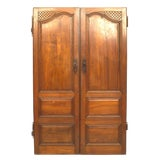 Image of Pair of 18th Century French Provincial Walnut Doors For Sale
