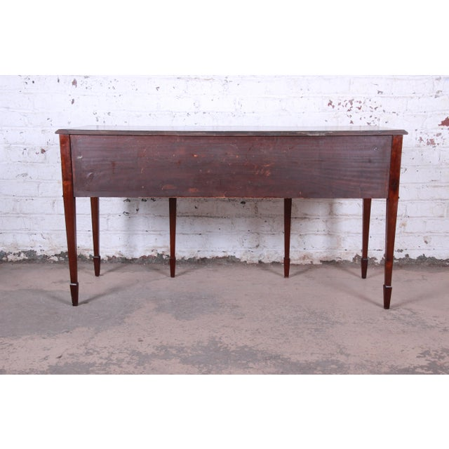 Antique English Hepplewhite Style Mahogany Sideboard Buffet For Sale - Image 12 of 13