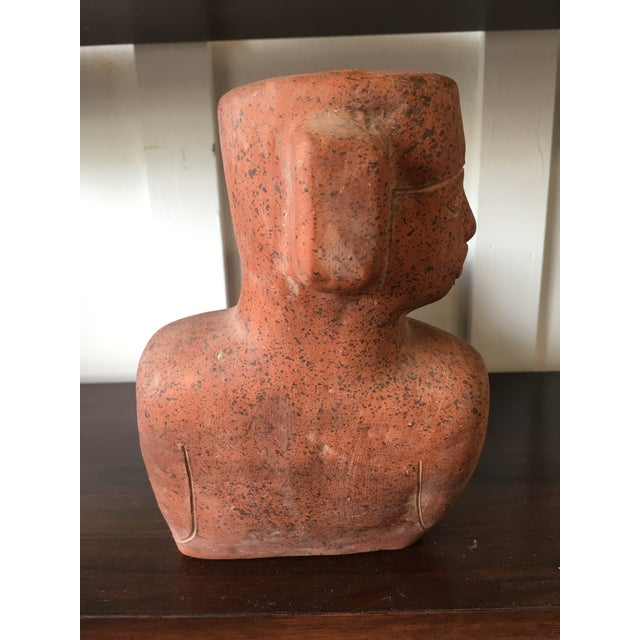 Mayan Clay Chacmool Statue For Sale - Image 4 of 11