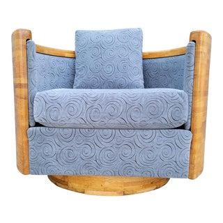 Barrel Swivel Lounge Chair For Sale