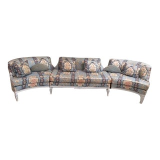 Hollywood Regency Chinoiserie Sectional Sofa For Sale