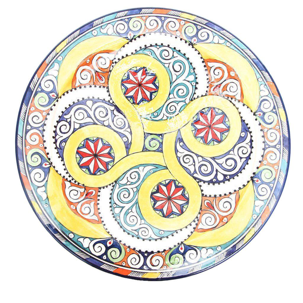 Atlas Moroccan Swirl Pedestal Plate | Chairish