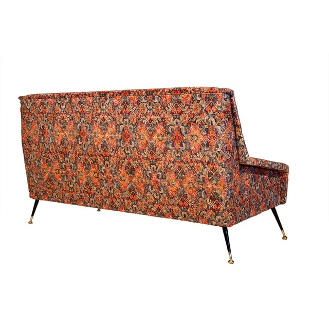 Italian Vintage Italian Sofa With Rubelli Upholstery For Sale - Image 3 of 10