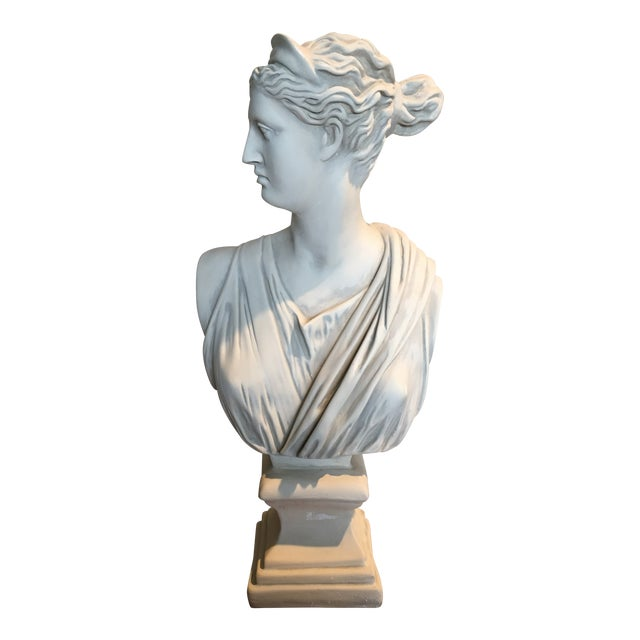 1980s Diana Goddess of the Hunt Large Scale Bust Sculpture For Sale