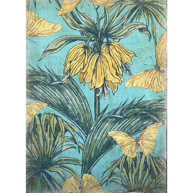 Hand Painted in France this art can be used as Wallpaper, can be framed and be an amazing piece of decoration. Featuring a...