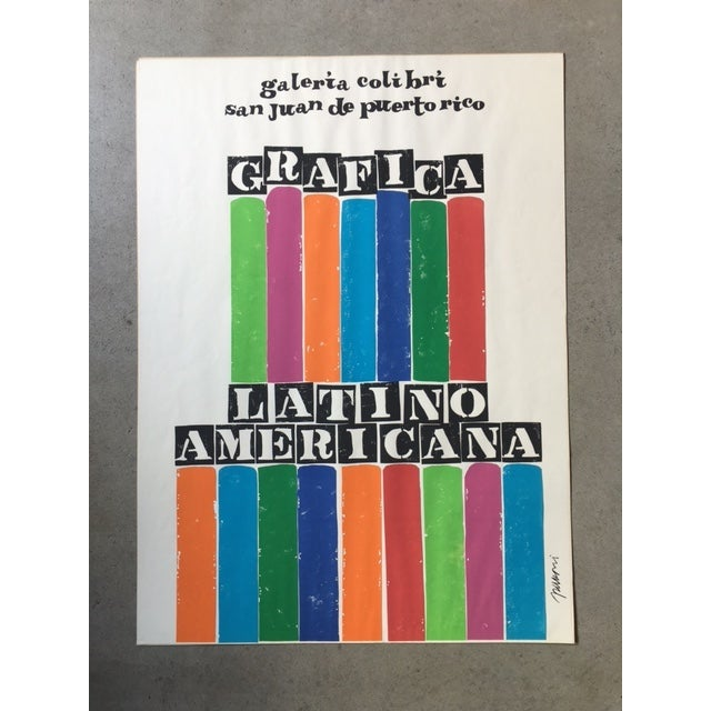 Antonio Frasconi Lithograph - Grafica Latino Americana - 1970. Limited edition. 100 made. Signed on lower left edge. Great...