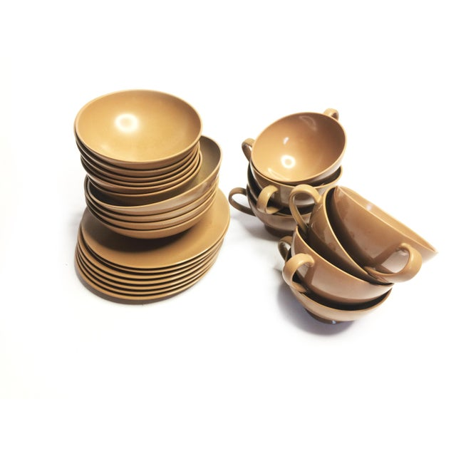 Vintage Brown Texas Ware Melamine Dining Set For Sale - Image 4 of 4