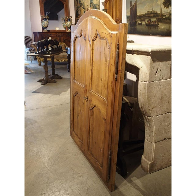 French Country Mid 19th Century Antique French Pine Cabinet Doors For Sale - Image 3 of 12
