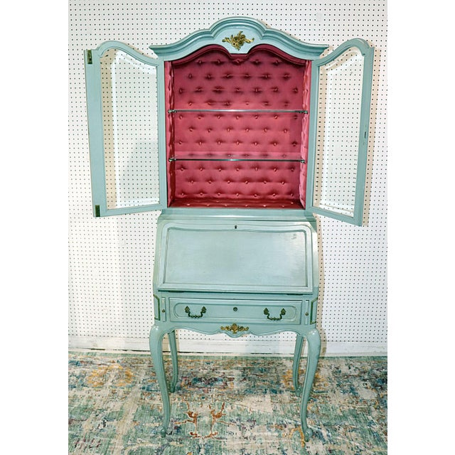 French Louis XV Style Secretary Desk For Sale - Image 9 of 12