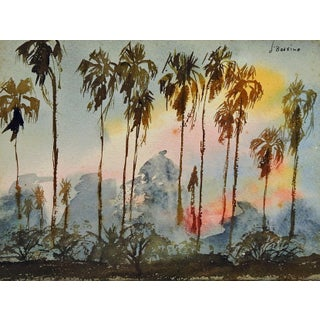 Palm Trees at Sunset Painting For Sale