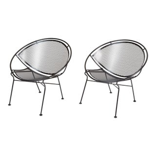 "Pair of Salterini ""Radar"" Lounge Chairs For Sale"