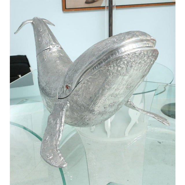 Figurative Monumental Arthur Court Whale Champagne / Wine Cooler For Sale - Image 3 of 9