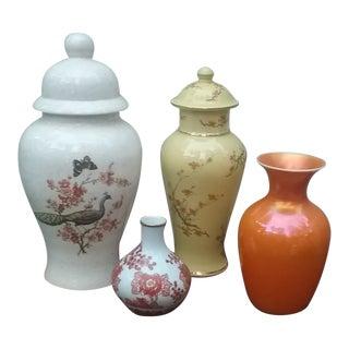 Vintage Japanese Ginger Jars - Set of 4 For Sale