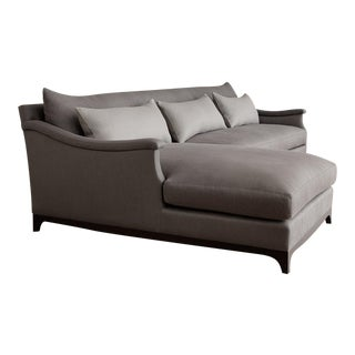 Vallone Serpentine Chaise Sectional For Sale