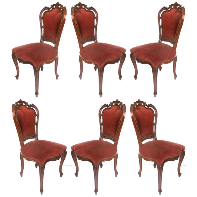 Louis XV Style Mahogany Dining Chairs With Carved Pierced Backs-Set of 6 For Sale - Image 12 of 12