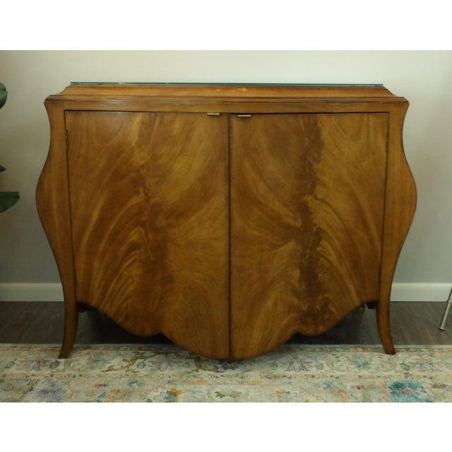 Brown Vintage Bombay Burl Wood Chest/Cabinet For Sale - Image 8 of 8