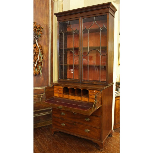 Georgian 18th Century George III Bookcase Secretaire For Sale - Image 3 of 9