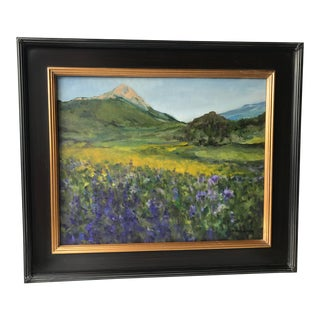 Modern Colorado Fields of Flowers Painting For Sale