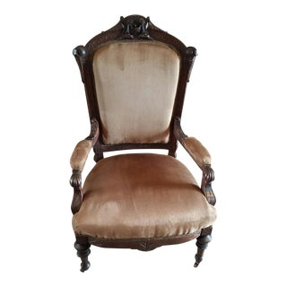 1890s Victorian Upholstered Chair