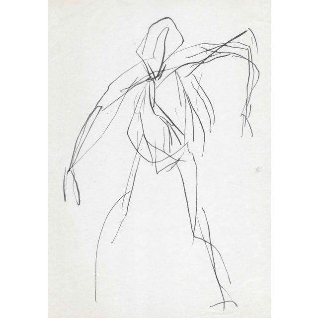 1960s Modern Figure Sketch by James Bone For Sale