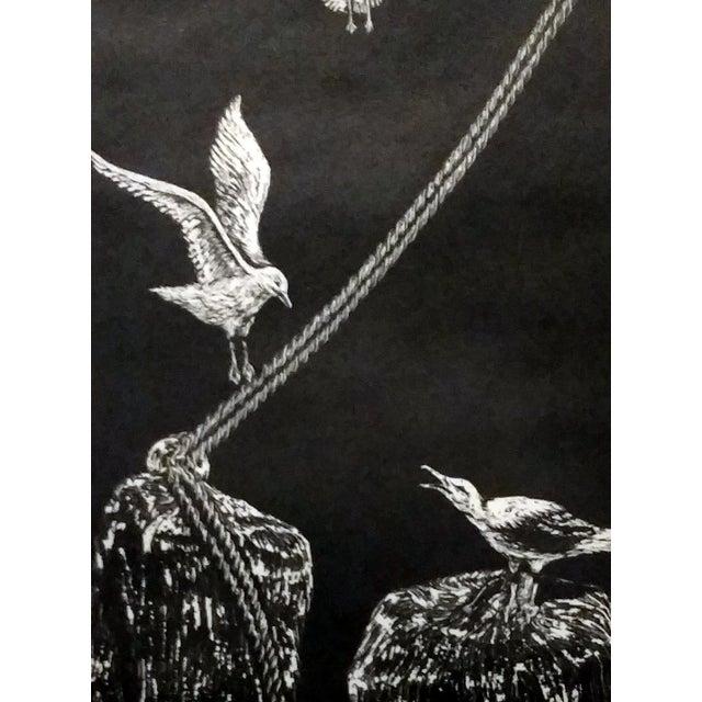 "Jane Heckett ""Seagulls"" Knife Etching - Image 4 of 9"