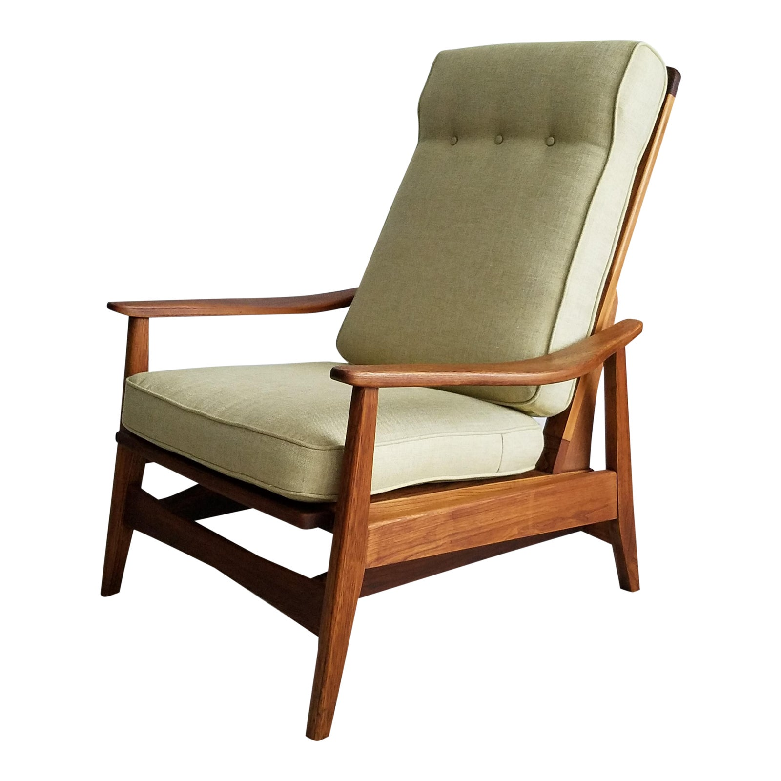 Danish Modern Platform Rockerlounge Chair  Milo Baughman Style -