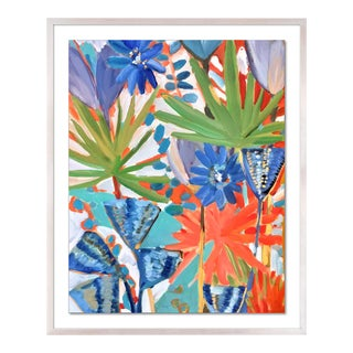 Jungle 1 by Lulu DK in White Wash Framed Paper, Small Art Print For Sale