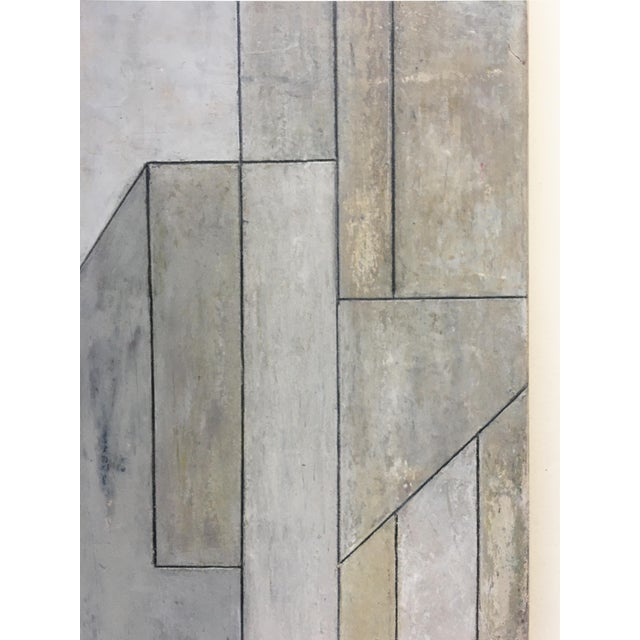 Mid-Century Modern Abstract Geometric Vertical Study by Stephen Cimini For Sale - Image 3 of 7