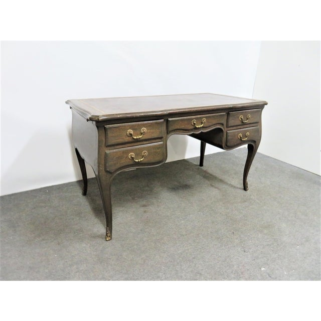 Louis XV Leather Top Writing Desk For Sale - Image 9 of 9