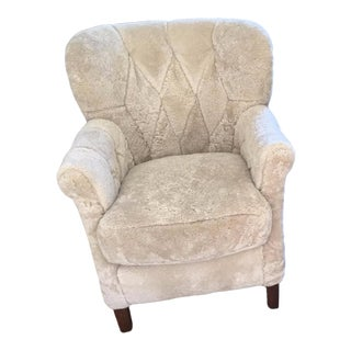 HD Buttercup Shearling Armchair in Beige