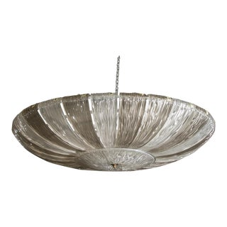 Monumental Barovier & Toso Textured Two Tone Fixture