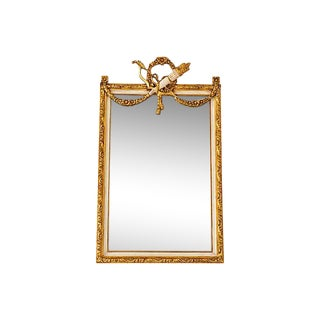 French Louis XVI Style Beveled Mirror For Sale