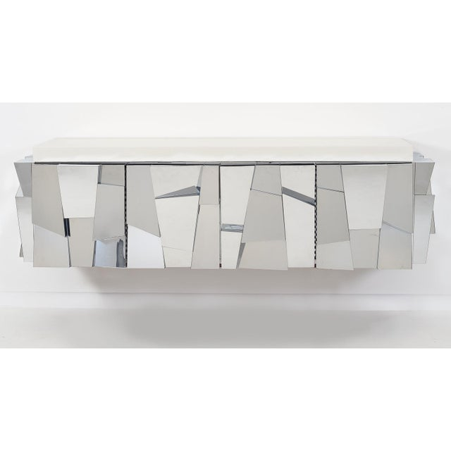 Cityscape II faceted console model no. PE 370 was designed and made by Paul Evans in his New Hope, PA studio. Made of...